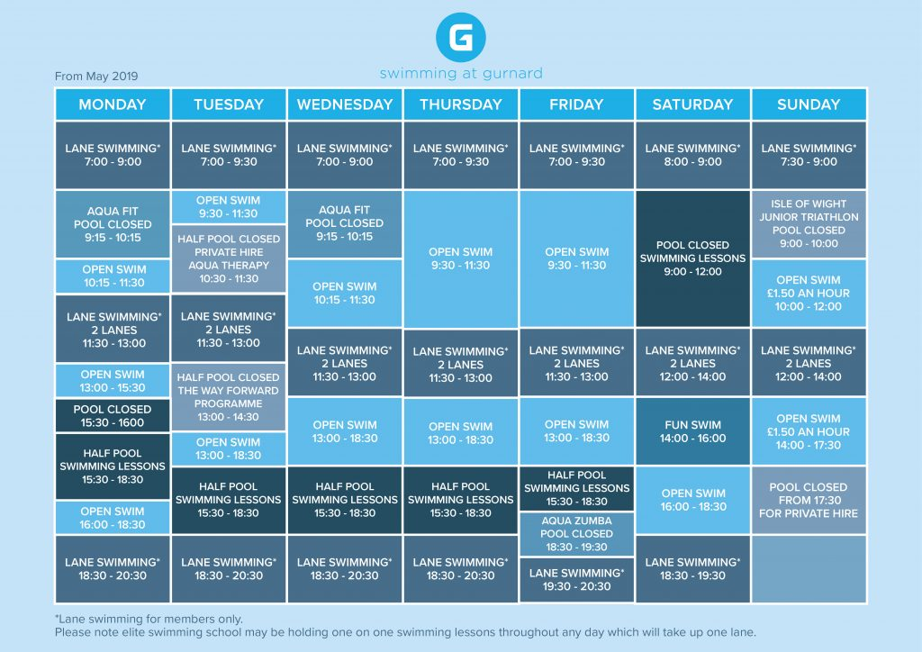 Regular Swimming Timetable